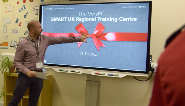 VeryPC Managing Director opening SMART UK Regional Training Centre