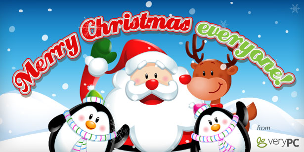 Merry Christmas everyone! Santa, Rudolph and 2 jolly snow people