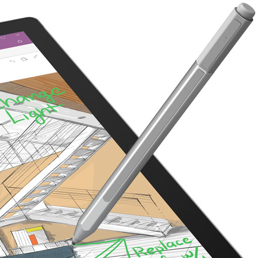 Surface Pen making notes on Surface display