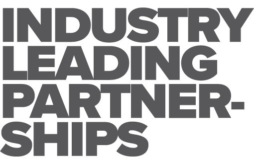 Industry leading partnerships