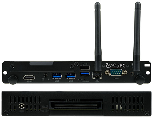 Front and rear views of VeryPC OPS System