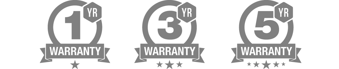 1 standard warranty graphics