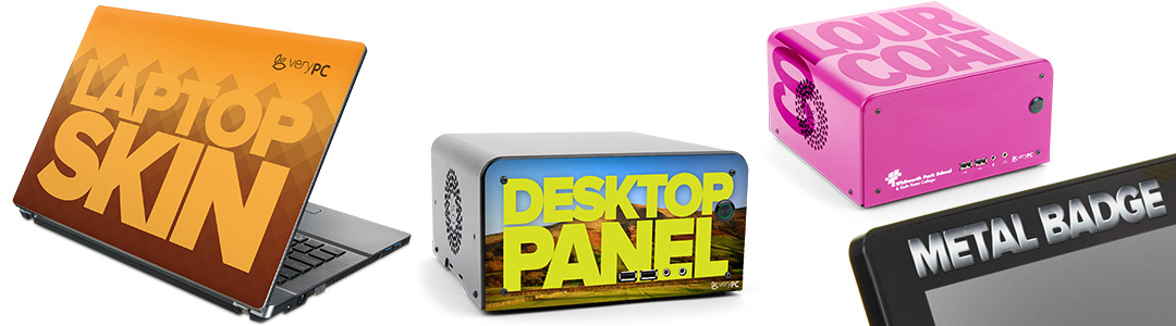 DESKTOP PANEL, LAPTOP SKIN, COLOUR COAT, METAL BADGE